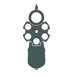 Retro gun front view vector