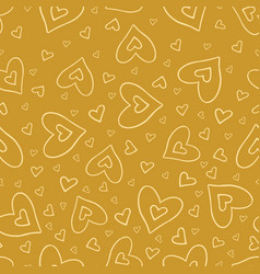 seamless pattern with beautiful hearts vector image vector image