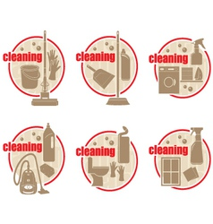 Set of icon cleaning vector image vector image