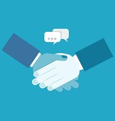 Shake hands business vector