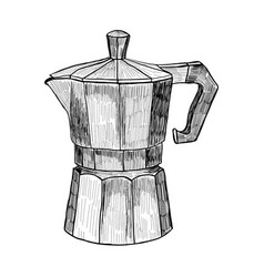 sketch of coffee maker hand drawn coffee maker vector image