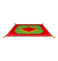 Traditional turkish carpet icon cartoon style vector image