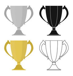 trophy icon in cartoon style isolated on white vector image
