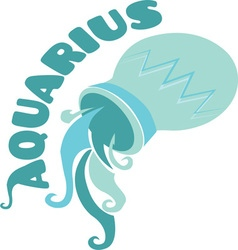 Aquarius zodiac vector