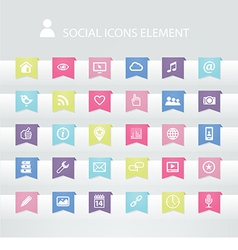 30 Social icons element vector image