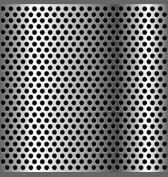 Chrome grid metal background vector