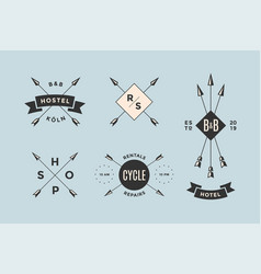 Set of emblem label and design elements vector