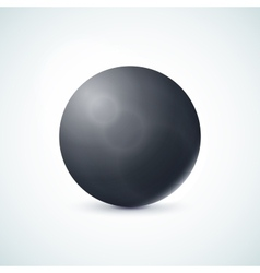 Black glossy sphere isolated on white vector