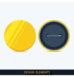 Set of badges in flat style vector image