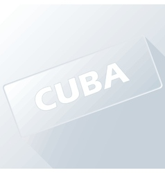 Cuba unique button vector