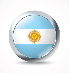 Argentina flag button vector