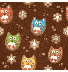 Christmas gingerbread ginger cookies vector