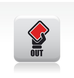 red card icon vector image