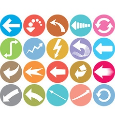 Arrow Icon Set vector image vector image