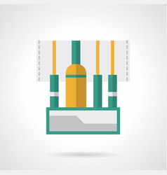 audio connectors flat color icon vector image vector image