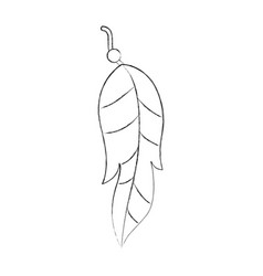 Boho style decorative feather vector