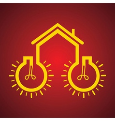 Bulb make a home vector image vector image