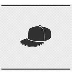 Cap icon black color on transparent vector