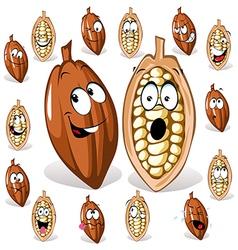 Cocoa bean vector