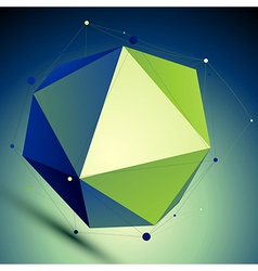 Colorful triangular abstract 3d digital lat vector