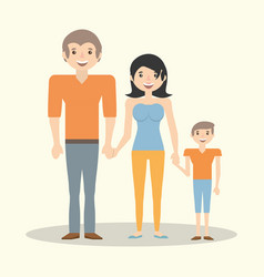 family parents child member vector image