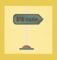 Flat shading style icon park sign vector