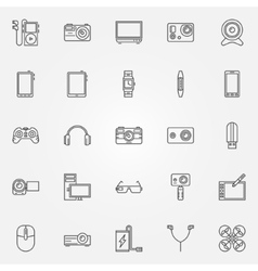 Gadgets and devices icons vector image vector image