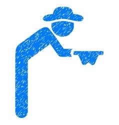 Gentleman beggar grainy texture icon vector