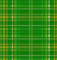 green tartan vector image