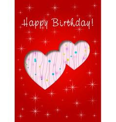 happy birthday whit love vector image vector image