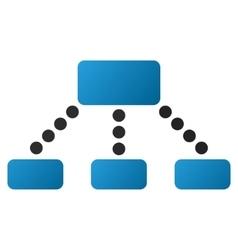 Hierarchy gradient icon vector