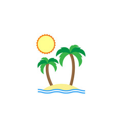 Island flat icon travel tourism vector