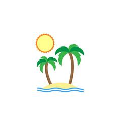 island flat icon travel tourism vector image