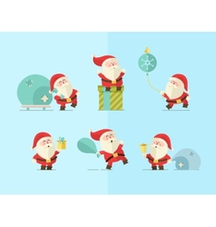 Merry christmas Santa vector image