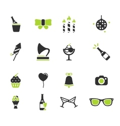 Party simply icons vector image