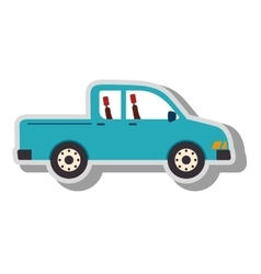 Pick-up vehicle transport icon vector