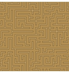 seamless abstract complex maze labyrinth vector image vector image