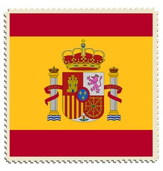 Spain flag post vector image