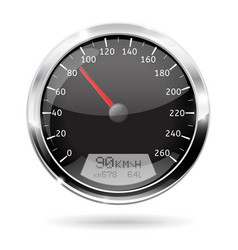 Speedometer 90 km per hour vector