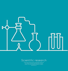 The concept of chemical science research lab vector image