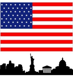 The United States vector image vector image