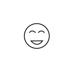 too happy emotion icon vector image