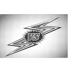 versus letters background in retro style vector image