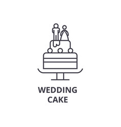 wedding cake line icon outline sign linear vector image