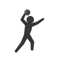 Player icon basketball design graphic vector