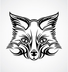 Fox head tattoo design vector