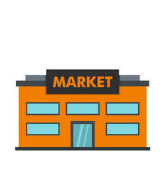 Market icon flat style vector