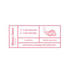 Business card template contour map logo vector