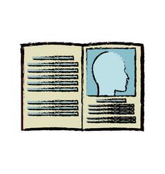 Book medicine health literature dictionary vector