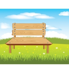 Bench on nature vector